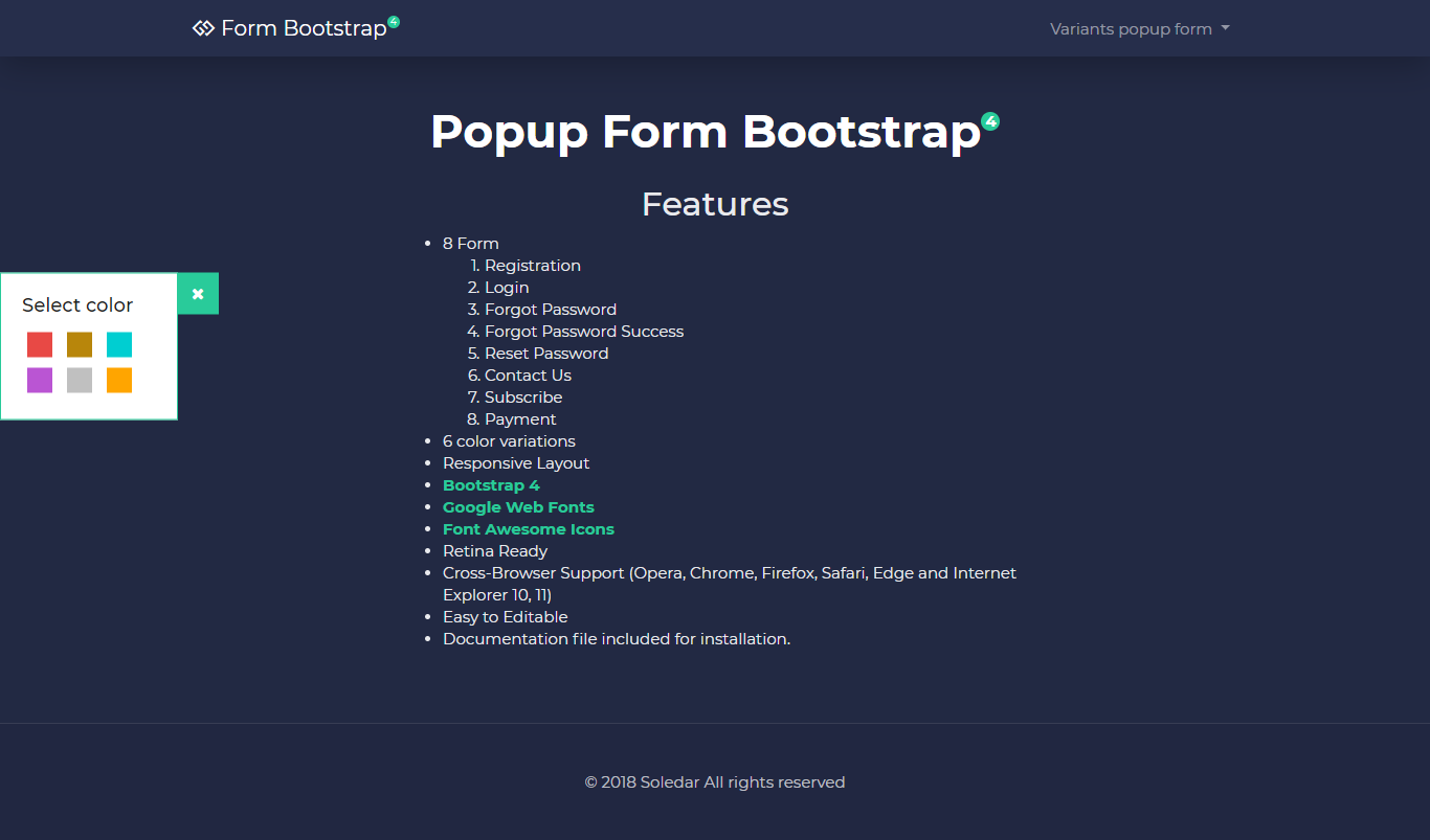 Modal form bootstrap 4 by soledar1984 codecanyon files images01g falaconquin