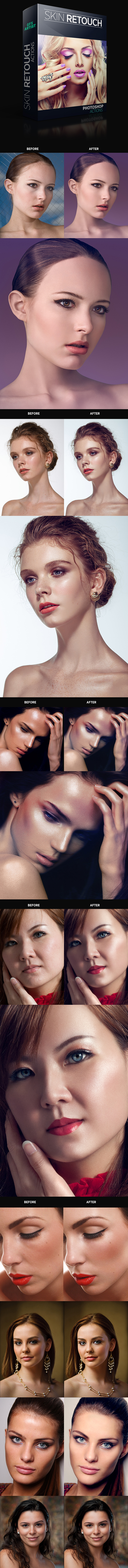 Fast Skin Retouching Actions - Photo Effects Actions