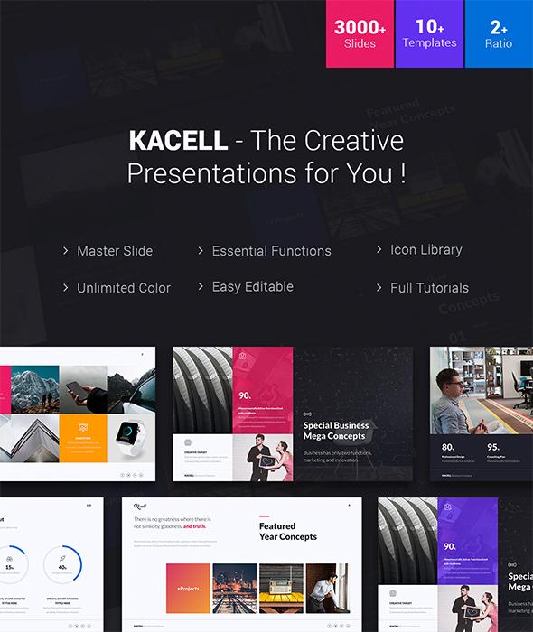 Kacell - Multipurpose & Business Template (Keynote) - Creative Keynote Templates