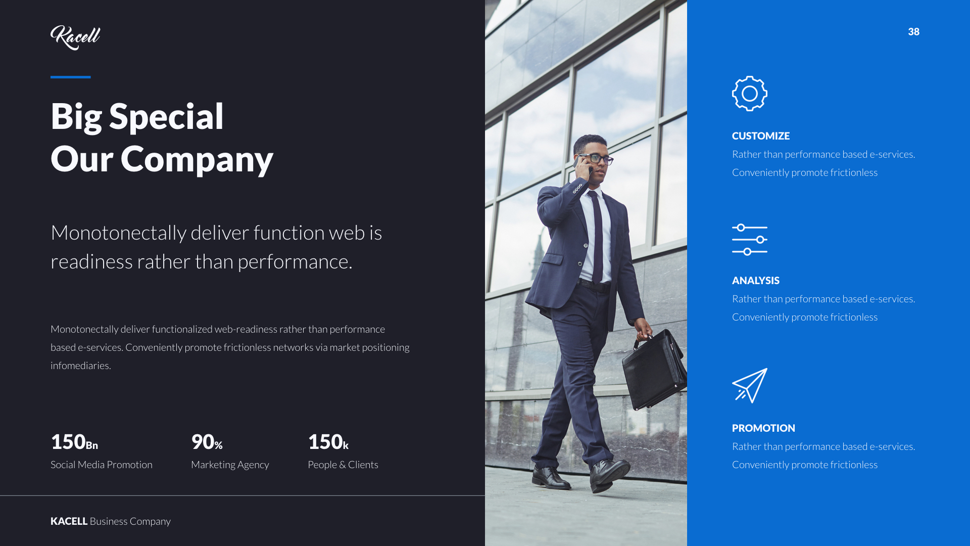 Kacell multipurpose business template keynote by udea preview setblue darkkacell business template dark blue originalwide038eg cheaphphosting Images