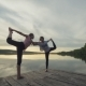 Couple Practicing Acroyoga at Sunrise - VideoHive Item for Sale