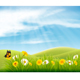 Spring Nature Landscape Background - GraphicRiver Item for Sale