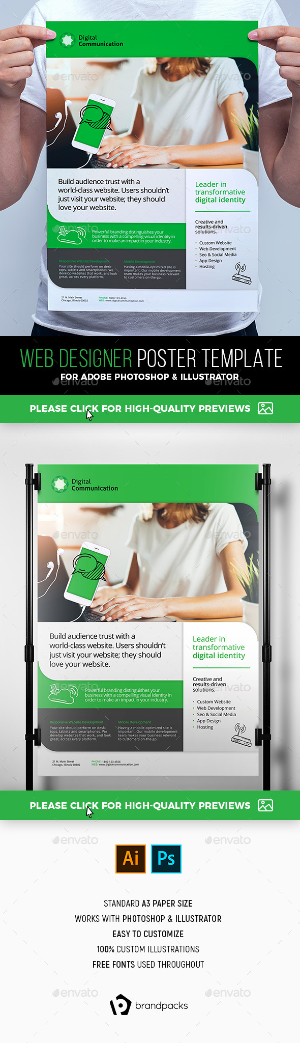 Web Design Service Poster Template - Corporate Flyers