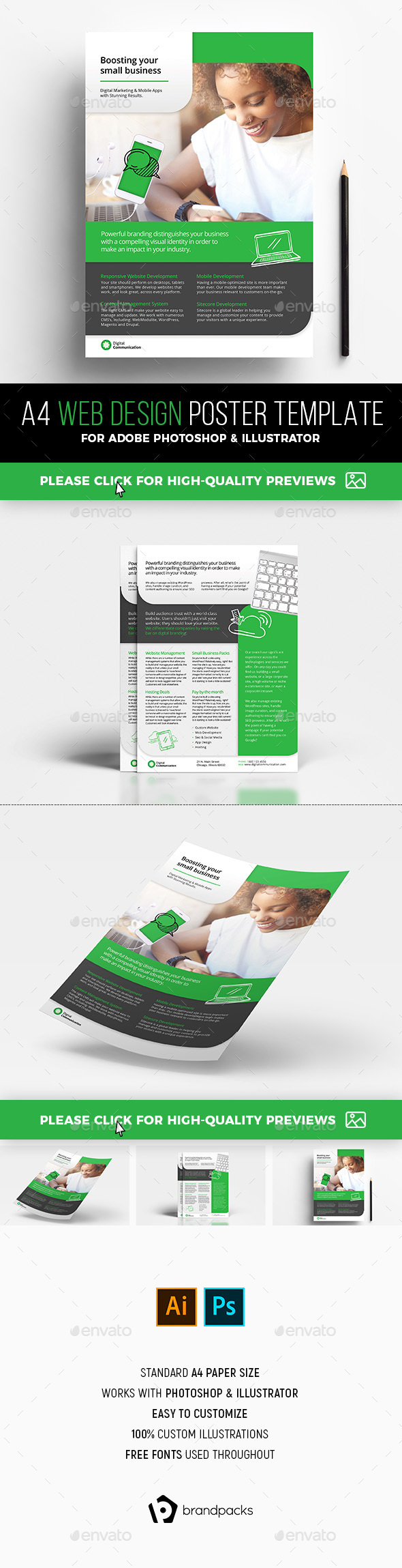Web Design Service Poster / Flyer Template - Corporate Flyers