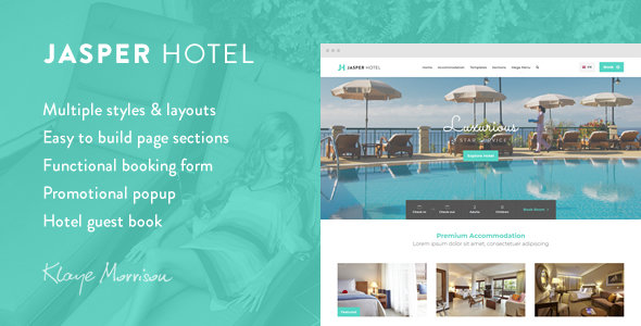 Image of Jasper Hotel - Website Template