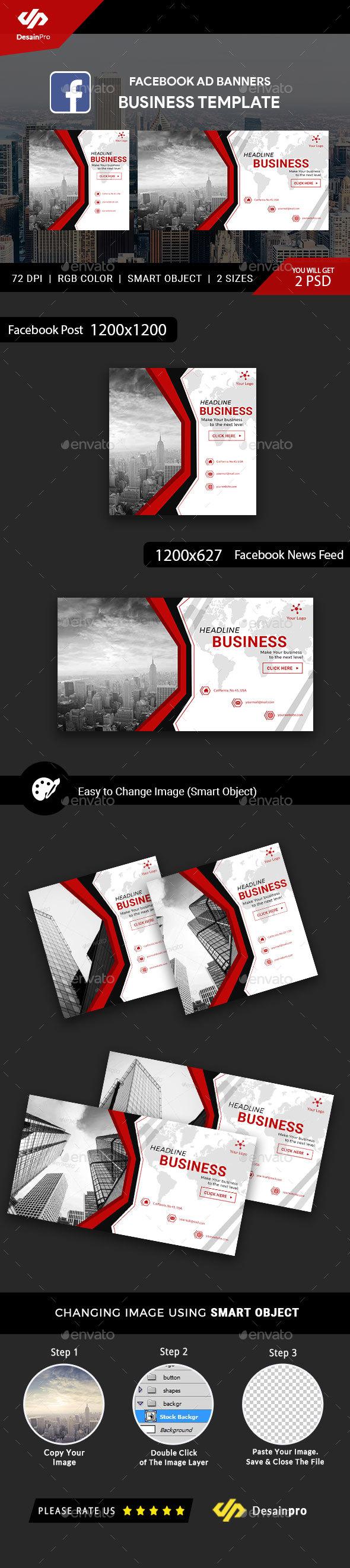 Business Service Facebook Ads Banner - AR - Social Media Web Elements