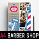 A4 Barber Shop Advertisement Template - GraphicRiver Item for Sale