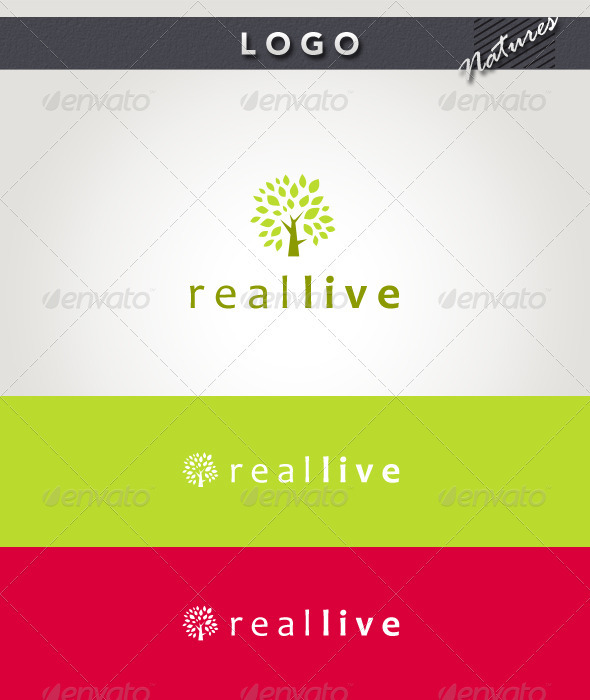 Real Live Logo - Nature Logo Templates