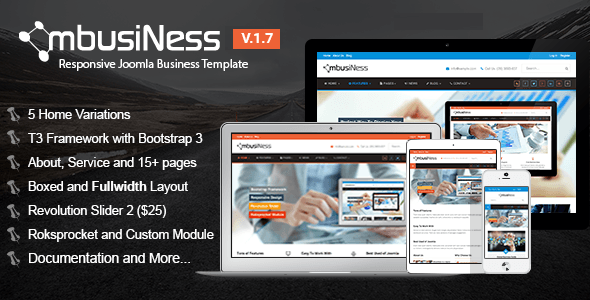 MbusiNess - Responsive Joomla Business Template - Business Corporate