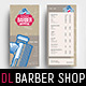 Barber Shop Rack Card Template - GraphicRiver Item for Sale