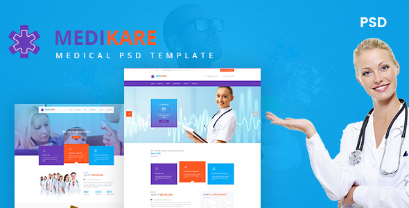Medikare- Health & Medical PSD Template - Health & Beauty Retail