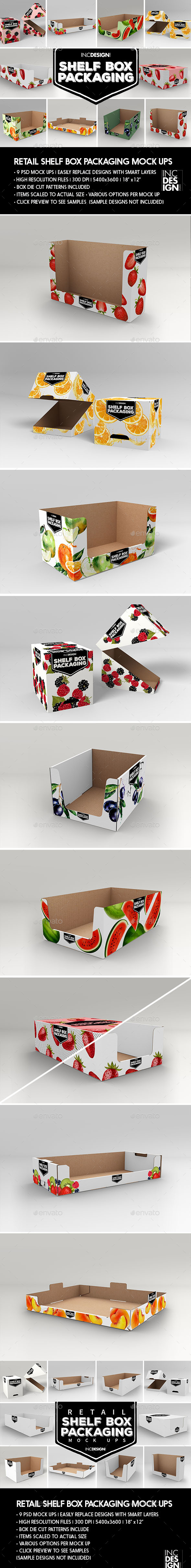 Retail Shelf Box Packaging MockUps - Food and Drink Packaging