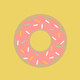 Graphic donut design isolated on background - PhotoDune Item for Sale