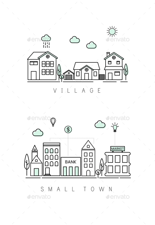 Illustration of city buildings - Stock Photo - Images