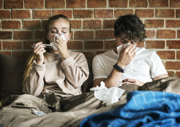 Couple is sick - Stock Photo - Images