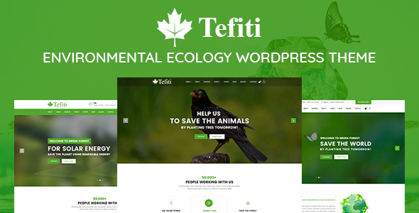 Tefiti- Environmental Ecology Responsive WordPress Theme