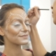 A Professional Make-up Artist Draws Body Art on the Face of the Model. Preparing for a Beauty - VideoHive Item for Sale