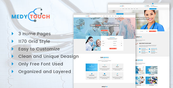 MedyTouch Medical PSD Template - Health & Beauty Retail