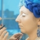A Professional Make-up Artist Prepares a Model for a Photo Shoot. - VideoHive Item for Sale