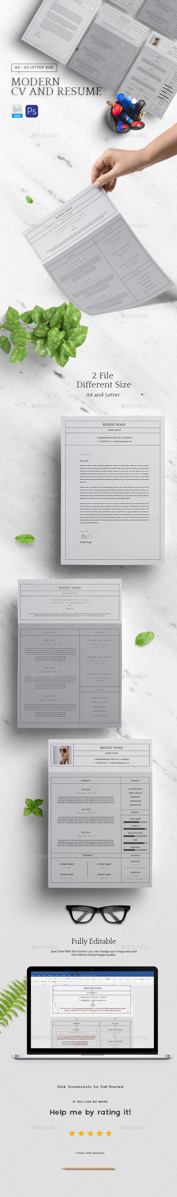 Modern CV Resume Templates - Resumes Stationery