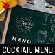Cocktail Menu Template - GraphicRiver Item for Sale