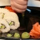 Decorate the Plate with Sushi Rolls. Fast Moving. - VideoHive Item for Sale