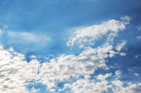 Colorful clouds with sky - Stock Photo - Images