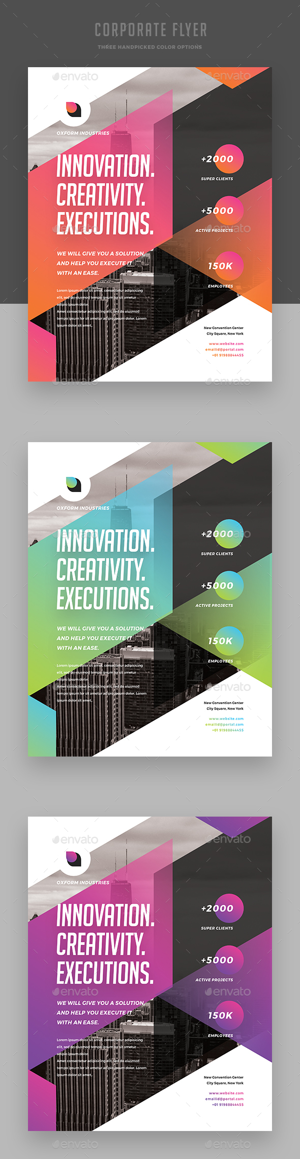 Creative Colorful Corporate Flyer - Corporate Brochures
