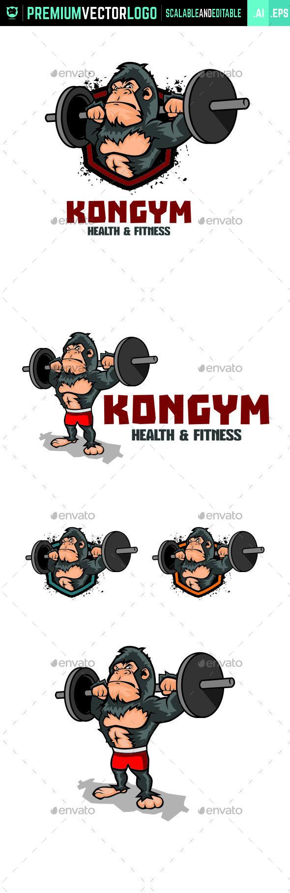 KonGym Logo - Animals Logo Templates