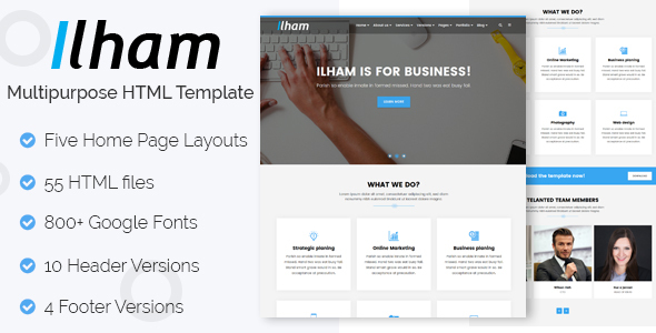 ILHAM - Multi-purpose HTML Template