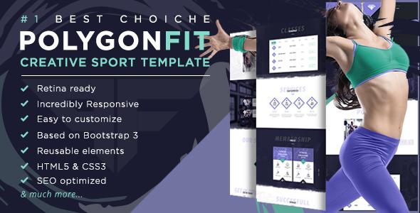 PolygonFit - Responsive HTML5 Sport Template - Health & Beauty Retail