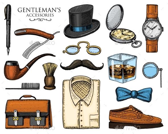 Gentleman Accessories - Miscellaneous Vectors
