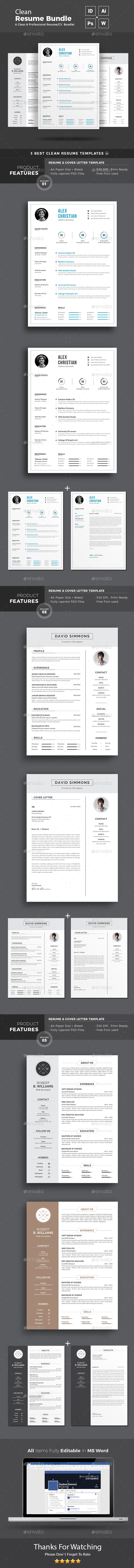 Resume Word Bundle - Resumes Stationery