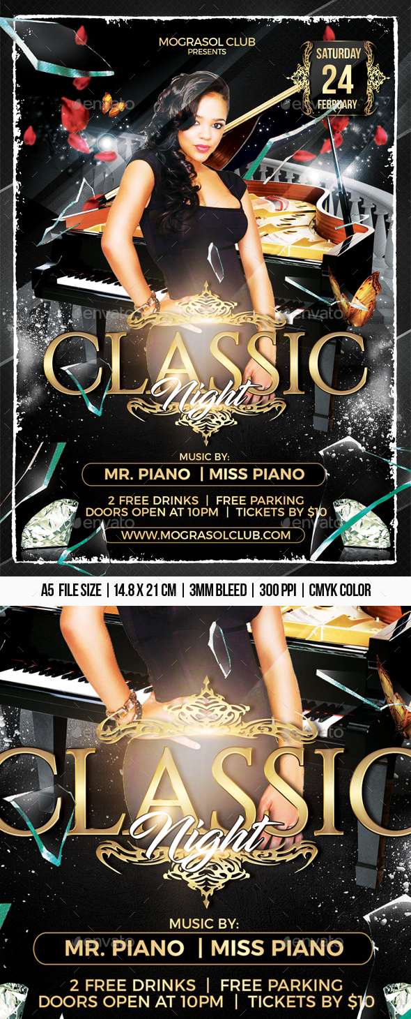 Classic Night Flyer - Clubs & Parties Events