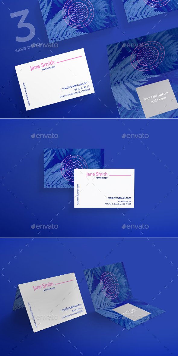 Maldives Holiday Business Card - Corporate Business Cards