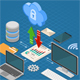 Cloud Computing Technology Isometric - GraphicRiver Item for Sale