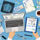 Doctors Workplace and Medical Diagnostics Concept