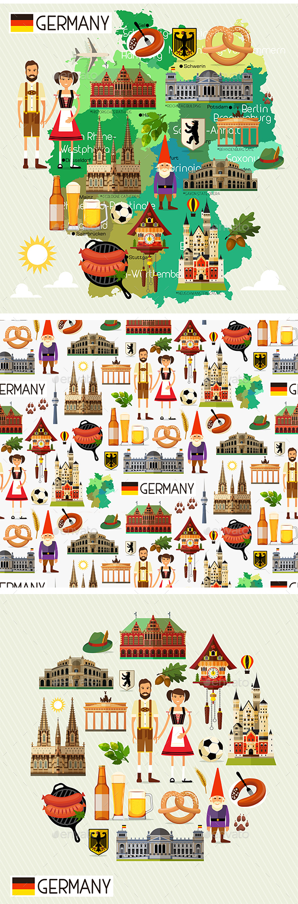 Germany Travel Set - Travel Conceptual
