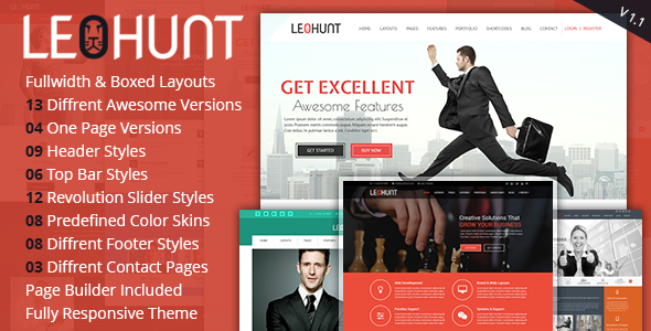 LeoHunt - Responsive Multi-Purpose Joomla Theme With Page Builder - Corporate Joomla