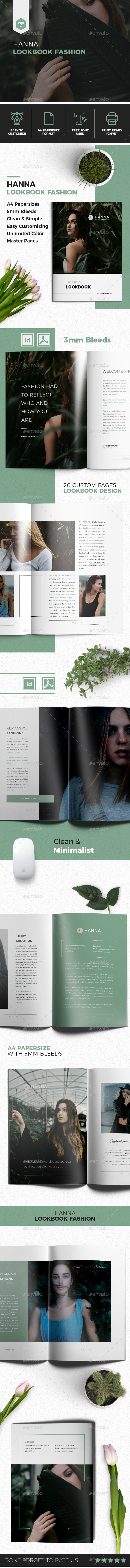 Hanna Fashion Lookbook - Brochures Print Templates