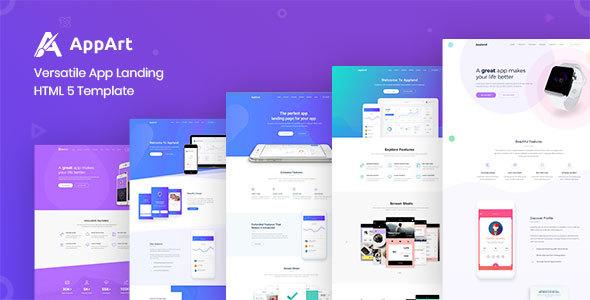 Appart - Creative App Landing HTML5 Template