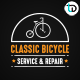 Classic Bicycle Badge & Logo - GraphicRiver Item for Sale