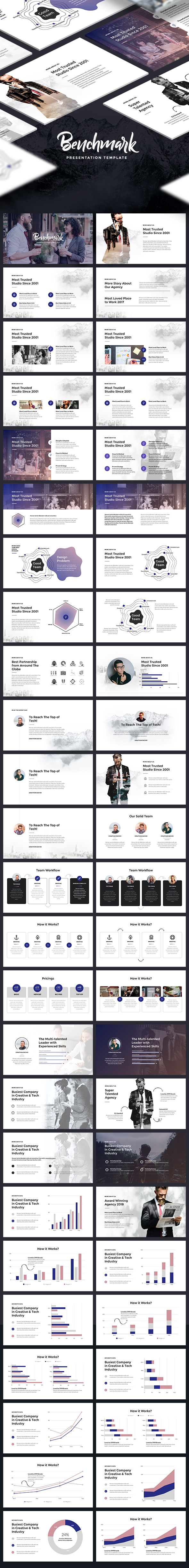 Benchmark - Modern Keynote Template - Keynote Templates Presentation Templates