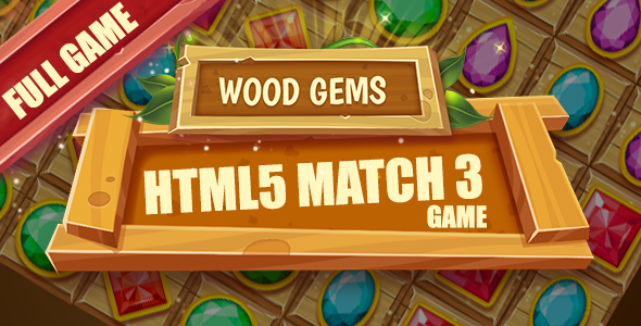 Wood Gems HTML5 Game [ 25 levels ] - CodeCanyon Item for Sale