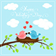 Happy Valentines Day with Two Birds and Hearts - GraphicRiver Item for Sale