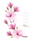 Nature Background With Blossom Branch of Pink Flowers