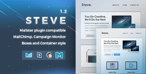 Steve | Responsive Email Template - Newsletters Email Templates