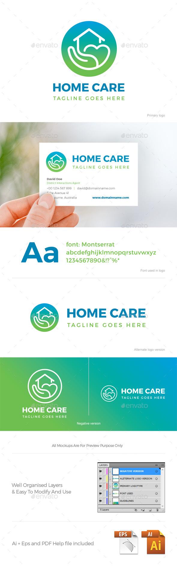 Home Care Logo - Company Logo Templates