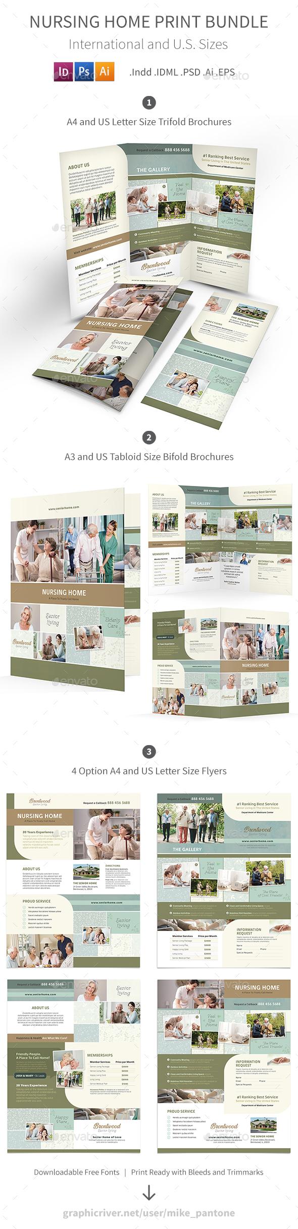 Nursing Home Print Bundle 2 - Informational Brochures