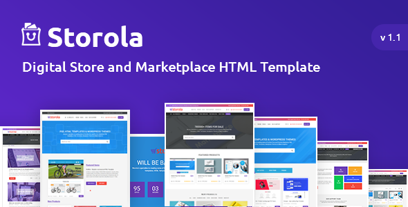 Image of Storola - Digital Store and Marketplace HTML Template